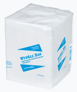 41083 WYPALL X60 1/4 FOLD WHITE HYGIENIC WASHCLOTH - 70wipes/pkg, 8pkg/case - W2591