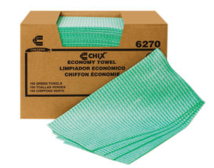 6270 GREEN CHIX ECONOMY LIGHT TOWEL, 150/Case - W2605