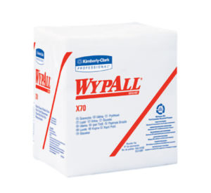 41200 WYPALL X70 1/4 FOLD WHITE WIPER TOWELS - 76/pkg, 12pkg/case - W2618