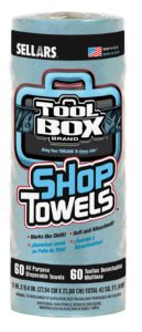 54400 TOOL BO Z400 BLUE SHOP WIPER ROLL TOWEL - 60 shts/roll, 30 rolls/case - W2626