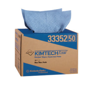 33352 KIMTECH BLUE PREP KIMTEX WIPER TOWEL BRAG BOX 180sht/case - W2638