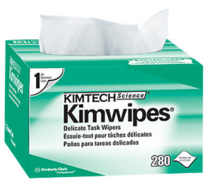 34120 KIMTECH 1PLY KIMWIPES for LENS CLEANING STATIONS - 280/pkg, 30pkg/case - W2640