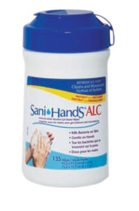 SANI-HANDS ALC ANTI-MICROBIAL HAND WIPES - 135/tub (12/case) - A8399