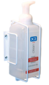 X3 HAND SANITIZER WALL BRACKET FOR 1L BOTTLE - A8494