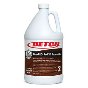 BETCO FIBERPRO RED 'N' BROWN OUT STAIN REMOVER - 4L, (4/case) - F4414
