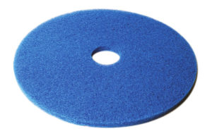 "CHECKERS 17"" BLUE FLOOR PAD (5/case) - F5204"