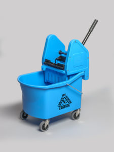 GRIZZLY 32qt DOWNPRESS WRINGER & BUCKET COMBO - Blue - F5303