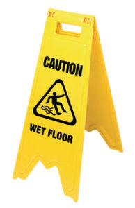 CAUTION WET FLOOR - SIGN (10/case) - F5304