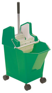 LADY COMBO WRINGER, BUCKET w/CASTERS, MOP & HANDLE COMBO- Green - F5306