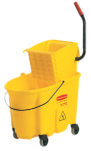 RUBBERMAID 7580-88 WAVEBRAKE 35qt BUCKET w/SIDEPRESS WRINGER - Yellow - F5310